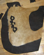 Custom Cow Hide Leather Chinks