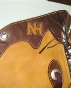 Custom Leather Chinks from Hopson Leather