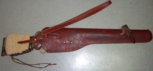 Custom Made Leather Rifle Scabbards from Hopson Leather