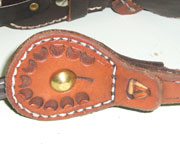 Custom Leather Spur Straps